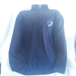 San Jose Sharks 1/2 Zip Shirt by Antigua Mens 3XL